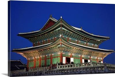 South Korea, Seoul, Gyeongbokgung Palace, Geunjeongjeon Throne Hall