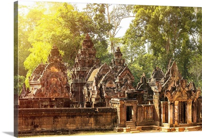 Southeast Asia, Cambodia, Angkor Temples, The Khmer Hindu Temple At Banteay Srei
