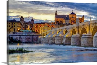 Spain, Andalucia, Cordoba Province, Cordoba, Roman Bridge