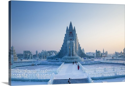 Spectacular ice sculptures at the Harbin Ice and Snow Festival, Harbin, China