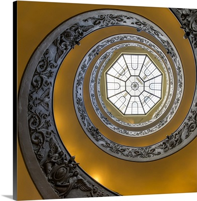Spiral staircase in the Vatican museum, Rome, Italy