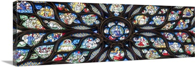Stained-glass windows in the upper chapel of Sainte Chapelle, Paris, France