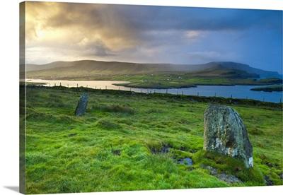 Standing Stones near Portmagee, Valentia Island, Co Kerry, Ireland