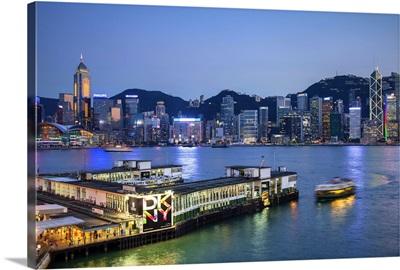 Star Ferry terminal and Hong Kong Island skyline, Hong Kong