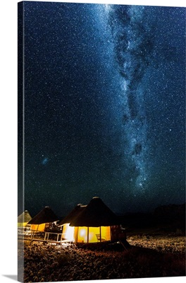 Starry night in Namibia at the Sossus dune lodge, Africa