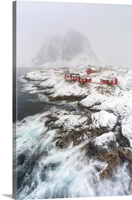Storm Colors Around The Fishing Village Hamnoy, Nordland, Lofoten Islands, Norway