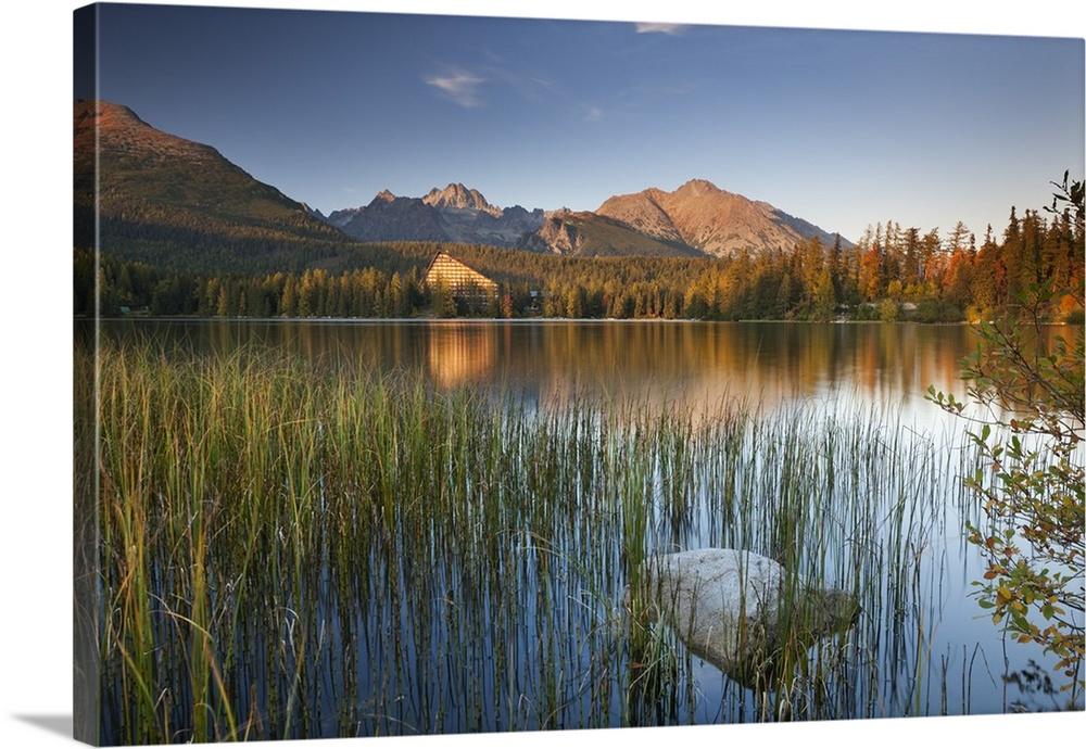 Strbske Pleso Lake In The Tatra Mountains Slovakia Wall Art Canvas Prints Framed Prints Wall Peels Great Big Canvas
