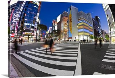 Sukiyabashi crossing, Ginza, Tokyo, Japan