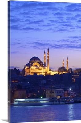 Suleymaniye Mosque at Dusk, Istanbul, Turkey