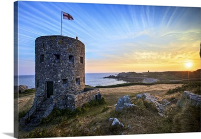 Sunrise At Martello Tower No 5, L'Ancresse Bay, Guernsey, Channel Islands