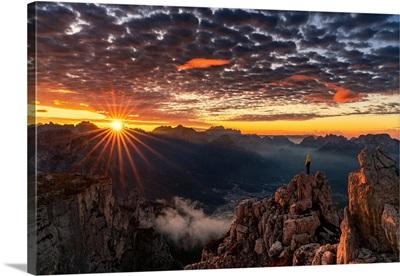 Sunrise On A Wild Spot Of The Pale Di San Lucano Group Over Agordo