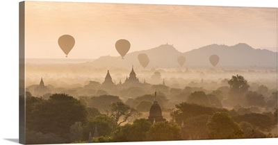 Sunrise over Bagan, Mandalay region, Myanmar