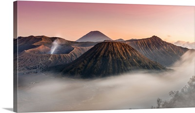 Sunset In Bromo With Mist, Giava Island