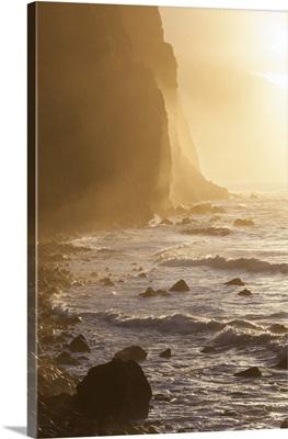 Sunset, north coast, Madeira, Portugal