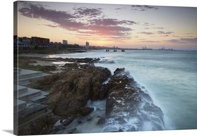 Sunset on Hobie Beach, Summerstrand, Port Elizabeth, Eastern Cape, South Africa