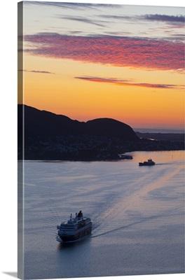 Sunset over Giske Island