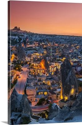 Sunset view over Goreme, Cappadocia, Turkey