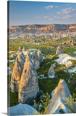 Sunset view over the Red Valley, Goreme, Cappadocia, Turkey