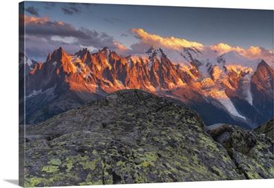 Sunset With A View, Chamonix Valley, Chamonix Mont Blanc, Haute-Savoie, France