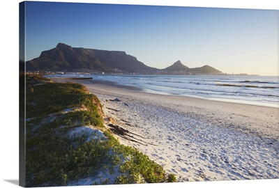 Table Mountain from Milnerton beach, Cape Town, Western Cape, South Africa