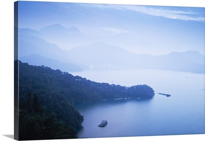 Taiwan, Nantou, View of Sun Moon Lake