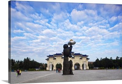 Taiwan, Taipei, Entrance gate, Chiang Kai-shek Memorial Hall