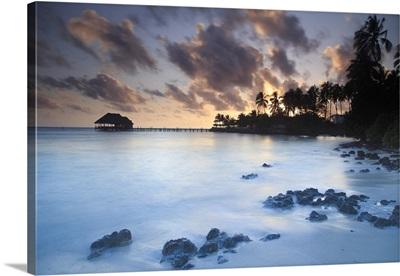 Tanzania. Zanzibar, Jambiani, Reef and Beach Resort, beach and resort at dawn