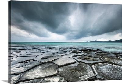 Tatami-Ishi Rocks On Kumejima Island, Okinawa, Japan