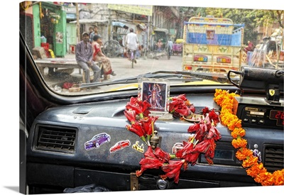 Taxi in the streets of Kolkata, India