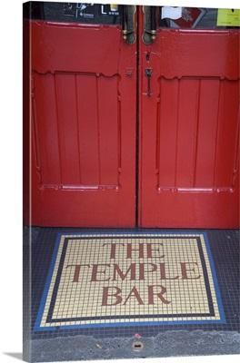 Temple Bar Pub Sign, Temple Bar District, Dublin, Ireland