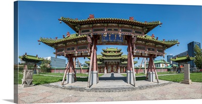 Temples Of The Winter Palace Of The Bogd Khan. Ulan Bator, Mongolia.