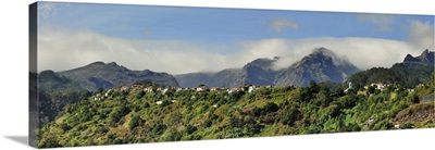 Terra Baptista and the high peaks of Madeira island, Portugal