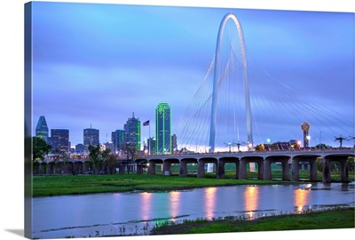 Texas, Dallas; Margaret Hunt Hill Bridge; Trinity River; Ronald Kirk Bridge