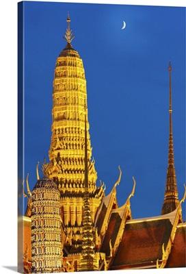 Thailand, Bangkok, Grand Palace, Wat Phra Kaeo at night