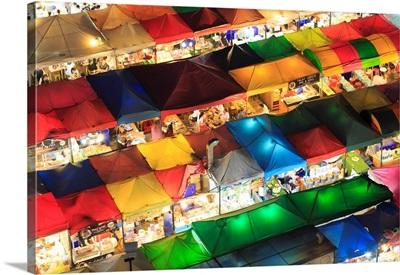 Thailand, Bangkok, Talad Rod Fad Ratchada (Train Night Market)