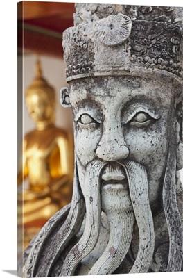 Thailand, Bangkok, Wat Pho, Chinese Statue