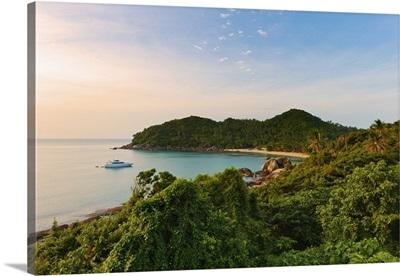 Thailand, Ko Samui, Silver beach at sunset