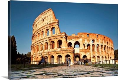 The Colosseum, Roman forum, Rome, Lazio, Italy, Europe