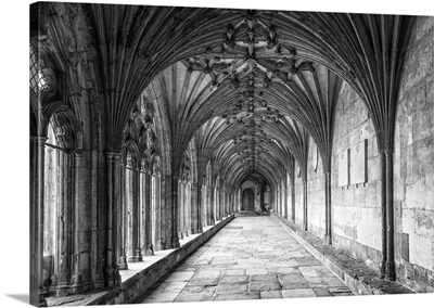 The Great Cloister Of The Canterbury Cathedral, Kent, England