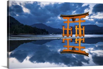 The great Torii of Miyajima island, Hiroshima Prefecture, Japan