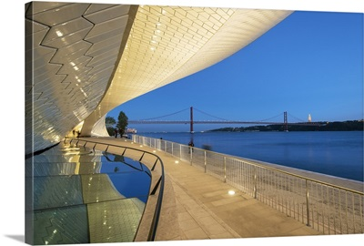 The MAAT, bordering the Tagus river, Lisbon, Portugal