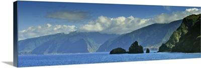 The north coast of Madeira island, near Ribeira da Janela, Portugal