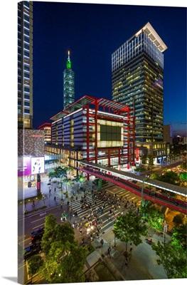 The Prime Shopping And Financial District Of Taipei, Taipei, Taiwan