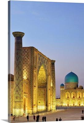 The Registan square and Ulugh Beg Madrasah. A Unesco World Heritage Site, Uzbekistan
