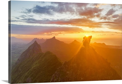 The Sunset At Scenery Rock Pieter Both Around Port Louis, Mauritius, Africa