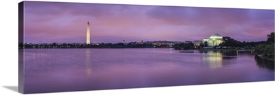 Tidal Basin with Washington Monument and Jefferson Memorial