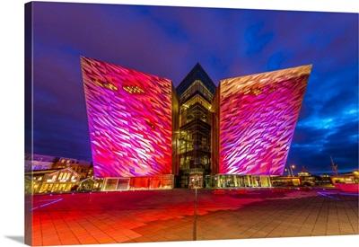 Titanic Building At Night, Belfast, Northern Ireland