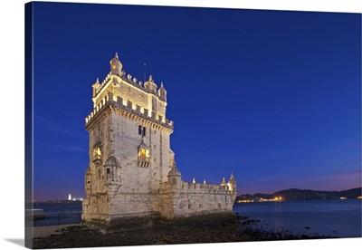 Torre de Belem, in Pedroucos, Belem, Cruz Quebrada, Lisbon, Portugal