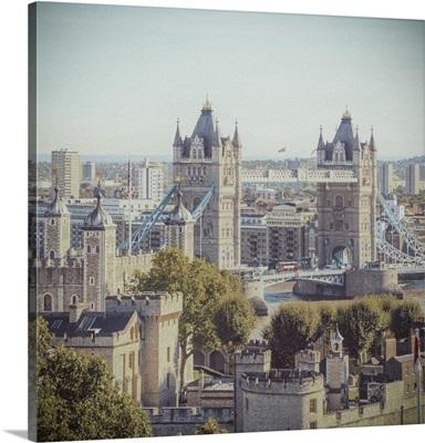 Tower Bridge & Tower Of London, London, England, UK