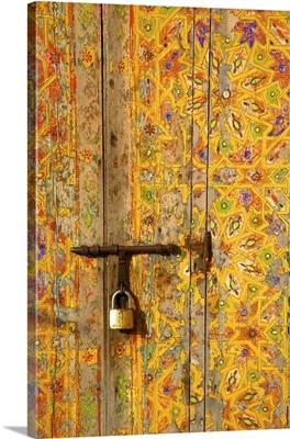 Traditional Moroccan Decorative Door, Rabat, Morocco, North Africa